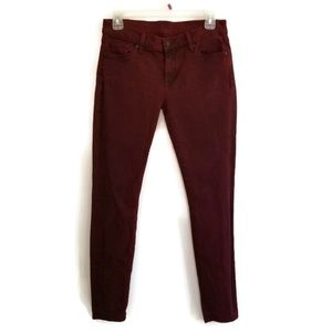 7 for All Mankind The Skinny Bordeaux Ankle Jeans